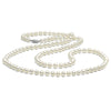 White Freshwater Opera Length Pearl Necklace, 6.5-7.0mm, 14K White Gold