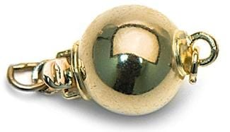 14K Yellow Gold Ball Clasp`