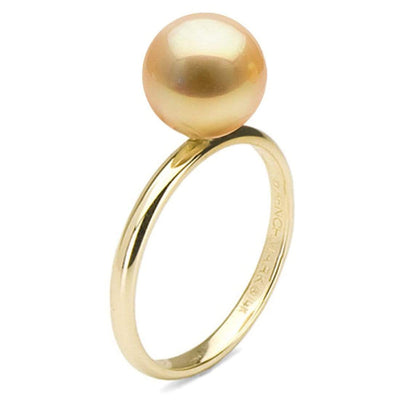 Golden South Sea Pearl Classic Solitaire Ring