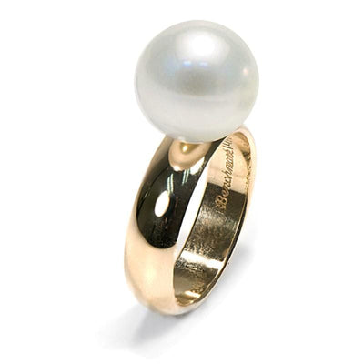 White South Sea Pearl Comfort-Fit Solitaire Ring
