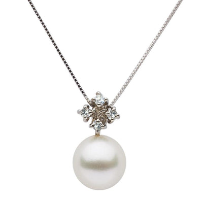 White South Sea Pearl and Diamond Elsa Pendant