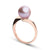 Gem Quality Lavender Freshwater Pearl Serenity Solitaire Ring