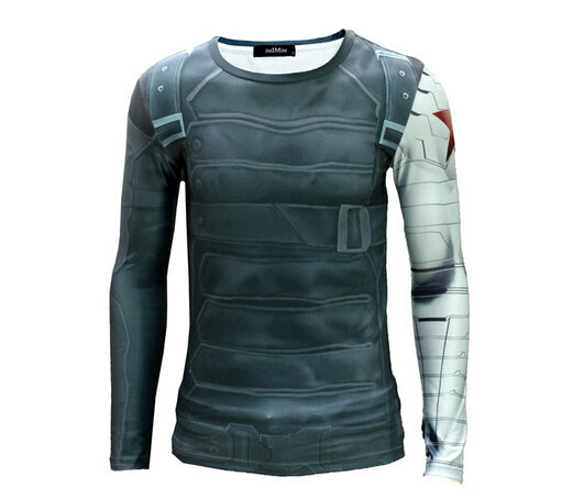 Mens Long Sleeve Fitness Shirt - Winter Soldier
