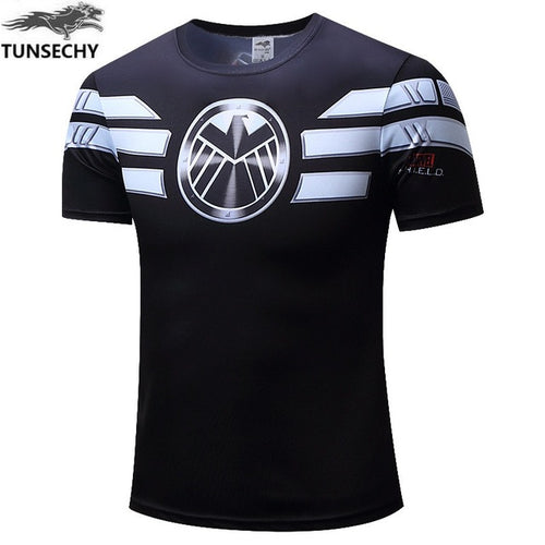 Mens Fitness T Shirt - Shield Agent