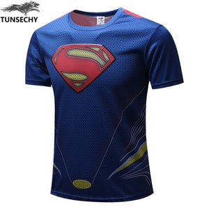 Mens Fitness T Shirt - Superman Man of Steel