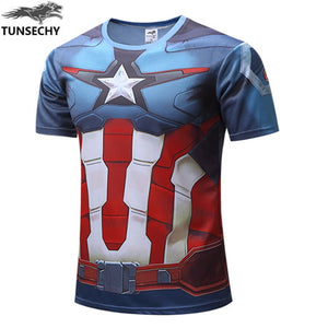 Mens Fitness T Shirt - Captain America Civil War