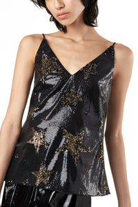 Star Sequins Slip Top