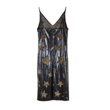 Star Sequins Slip Dress