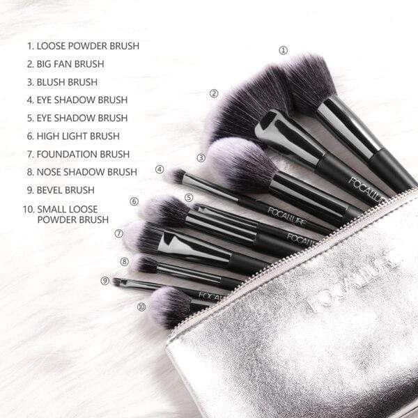 10pcs Brushes Set