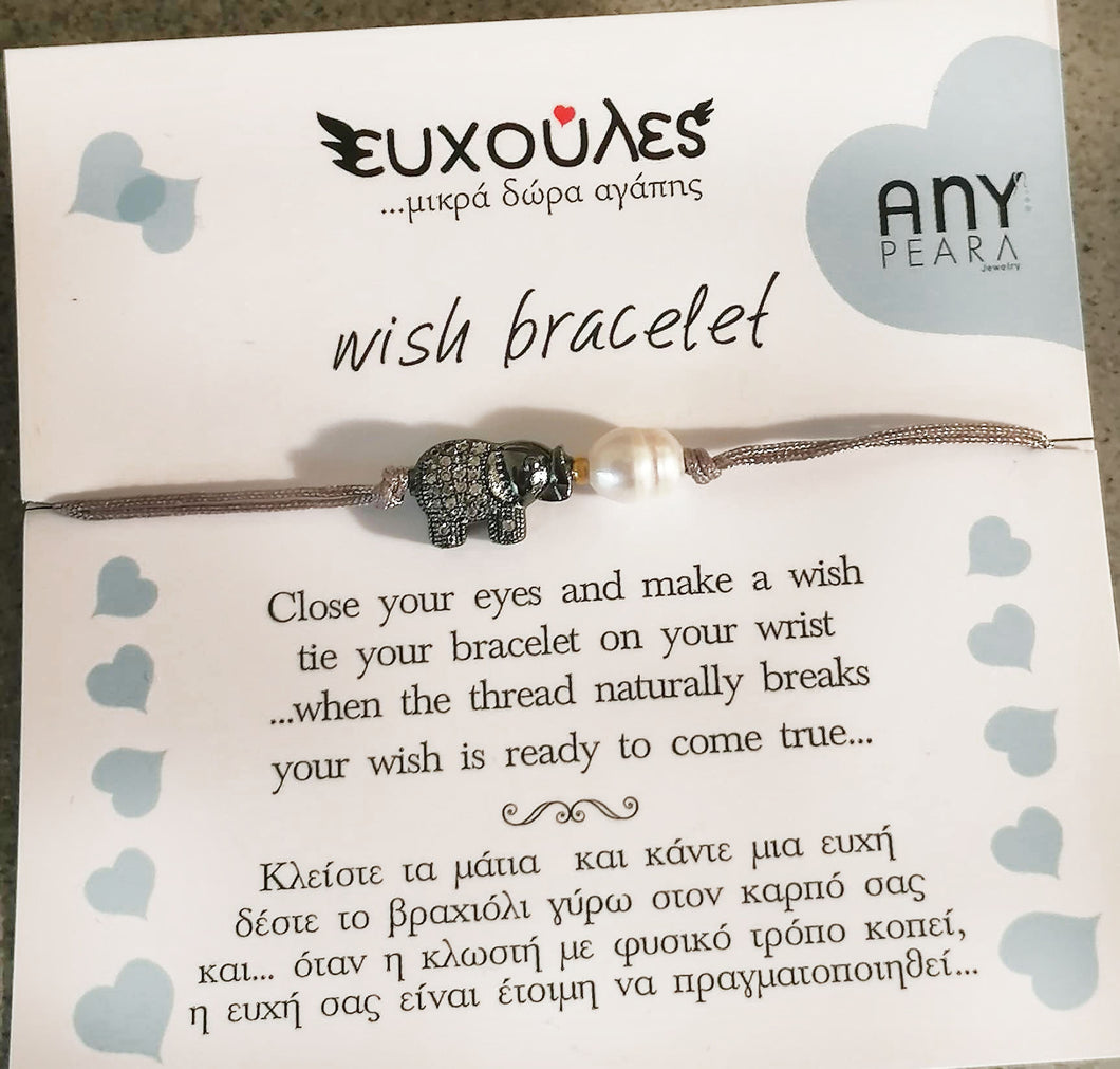 Little wishes, little gifts of love, bracelet moon elephand