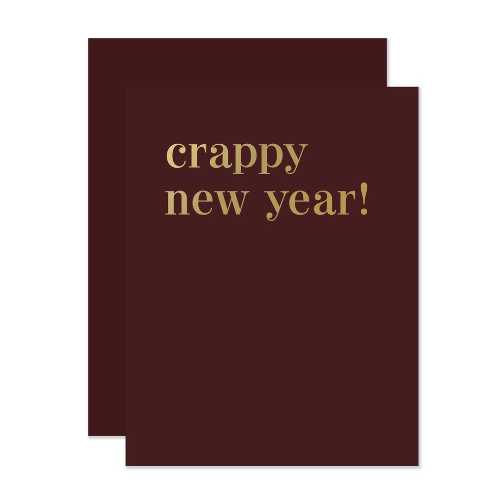 Crappy New Year! - Greeting Card