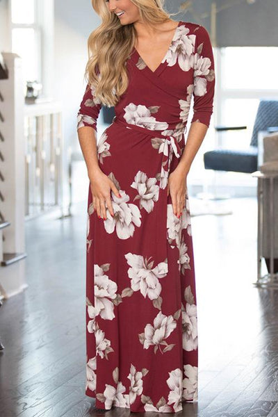 Home Lady Wrap Maxi Dress