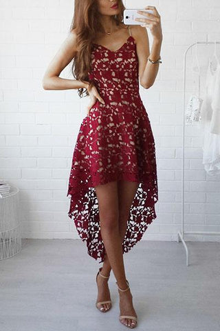 Bohemian Spaghetti Strap Lace Dress