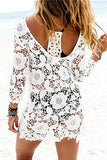 Lace Bohemian Hollow Out Straight Mini Dress