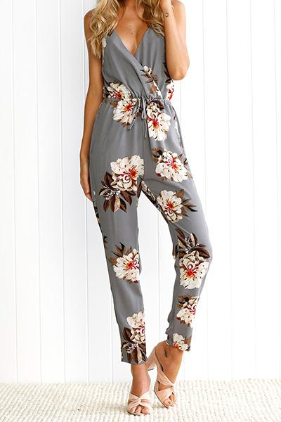 Women's Floral Regular Jumpsuits