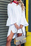 White Beautiful Cotton Mini Dress