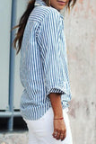 Striped With Glasses Blouses&Shirts