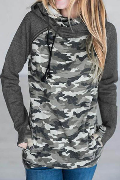 Love the Camouflage Pattern Zipper Hoodies