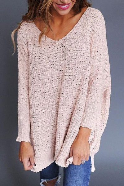 Pink Blending Regular Sweaters