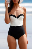 Classic Tone Contrast One-piece Swimsuit