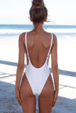 Open Back One Piece Swimwear Sunset