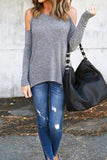 Gentle Off The Shoulder Casual T-shirt