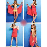 Red Backless Condole Belt Plunging Neckline Mini Dress