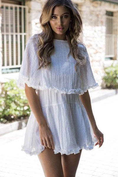 Away With The Breeze Lace Midi Dress