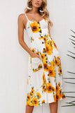 Jessie Sunflower Mid Calf Dress