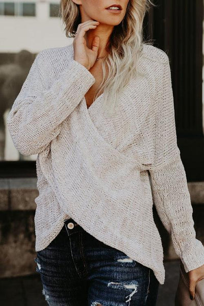 V Neck Sweater Bottoming Shirt