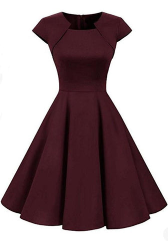 7b0355df2c6 Burgundy Irregular Draped Round Neck Long Sleeve Midi Dress