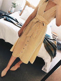 Summer Vintage Stripe Print Elegant Deep V Streetwear Sundresses Bodycon Midi Dress