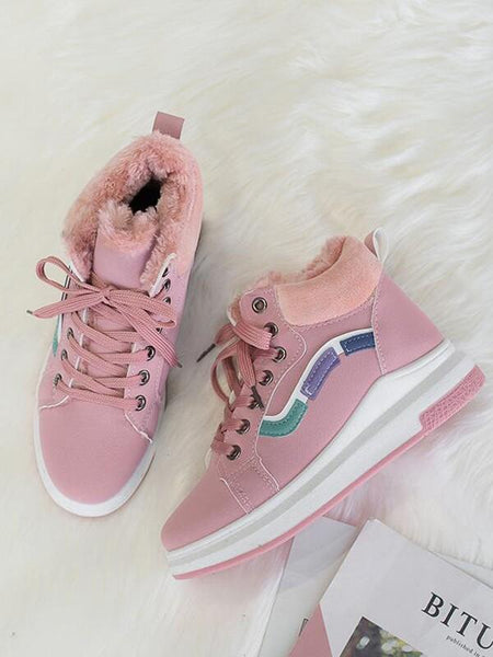 New Pink Round Toe Flat Patchwork Cross Strap Fashion Shoes