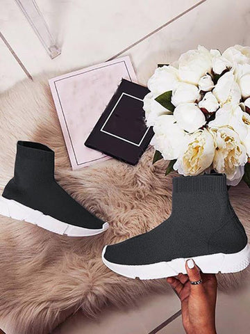 New Black Round Toe Fashion Ankle Shoes