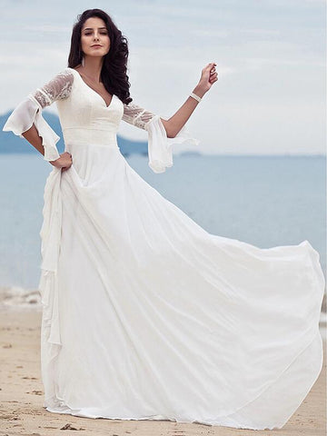 Women Beach Dress White Lace Sleeveless A Line Long Dress Elegant