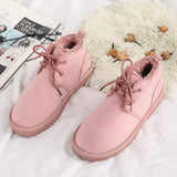 New Arrival Australia Winter Boots High Top Suede Shoes Women fur Warm Lace Up Shoes Girls Casual Shoes size 35-40