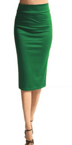Fashion Solid Color Skirt
