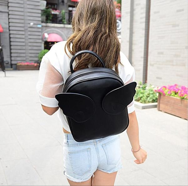 Angel Wings Bag Small Fresh Bag Lovely Students Backpack