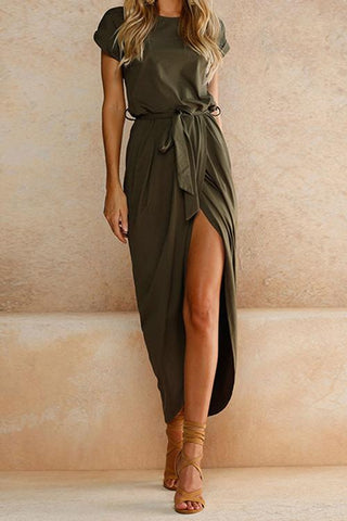 Spring Green Casual Maxi Dress