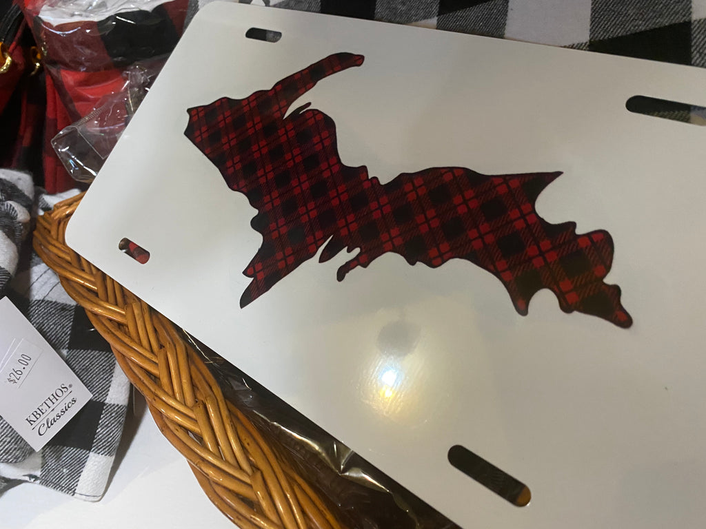 License Plate Buffalo Plaid