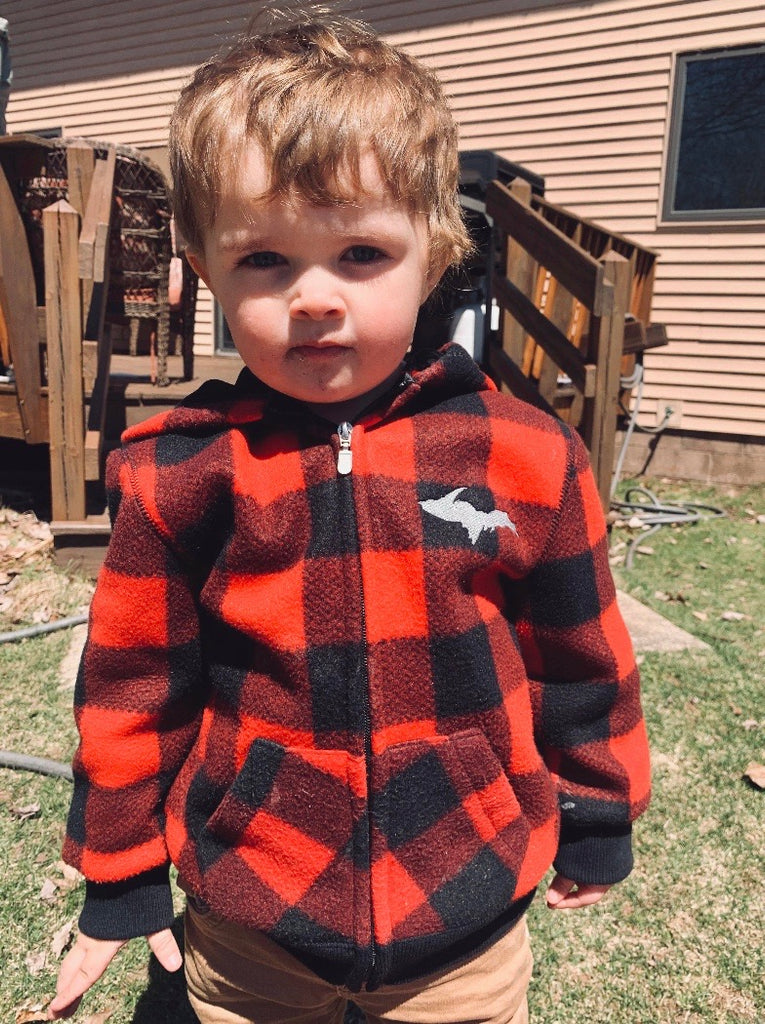 Toddler Buffalo Plaid Polar Hoodie