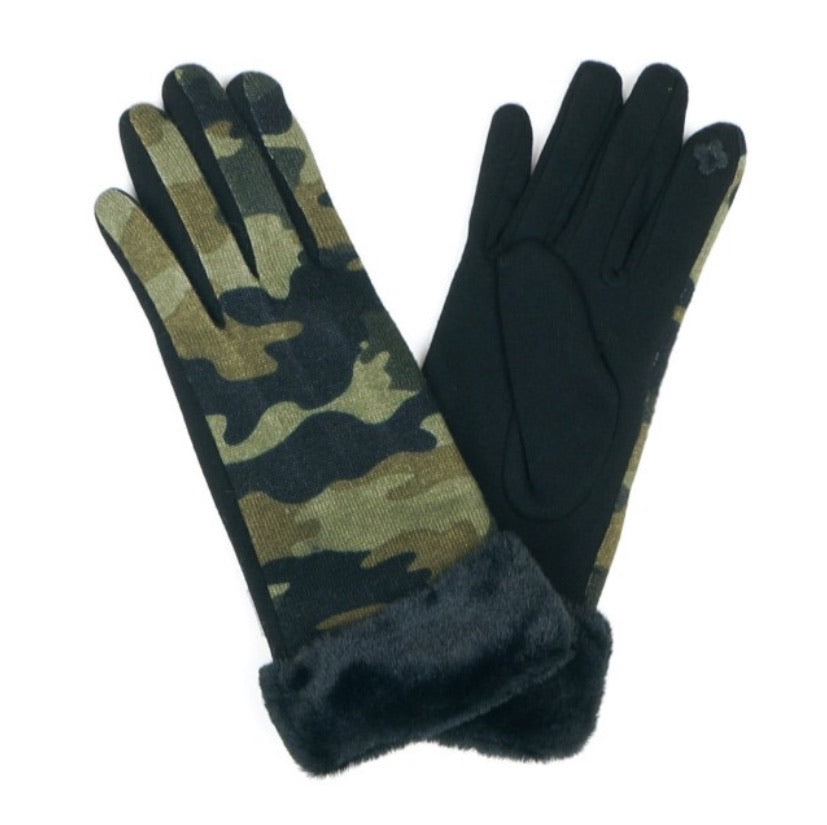 Camouflage Smart Touch Gloves