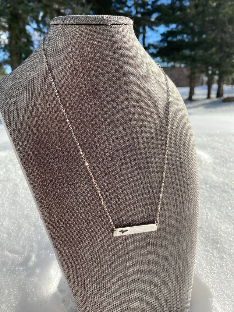 UP or Mitten Bar Necklace