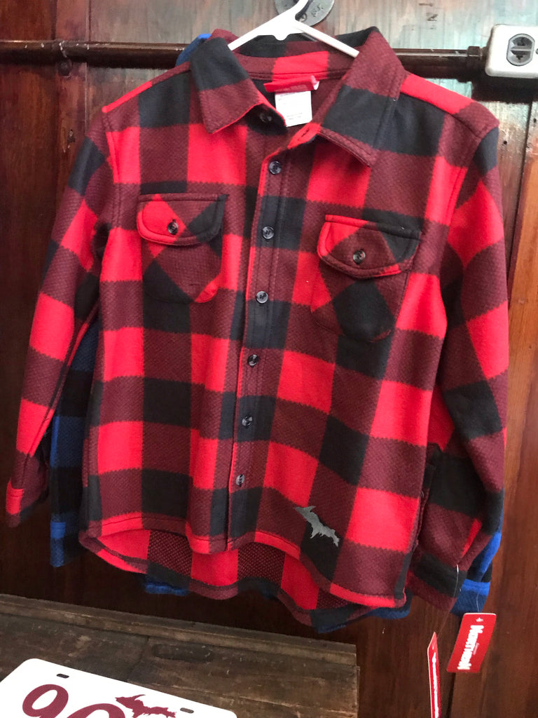 Toddler Checked Button Down - Fleece