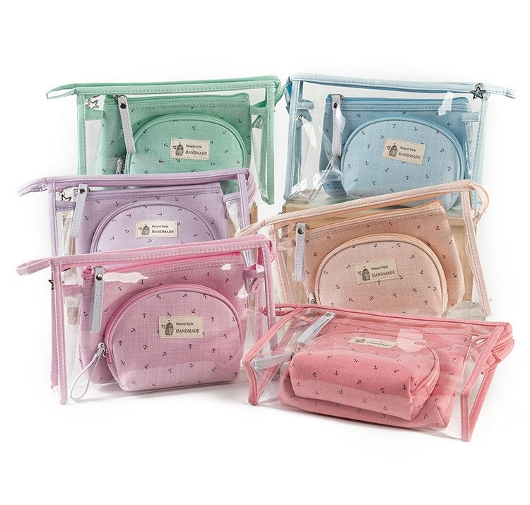 3 piece/Set Cosmetic Bags - Several Colors - AtHomeWithZane
