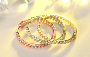 Affordable Luxury Hoop Earrings Silver, Gold, Rose Gold - AtHomeWithZane