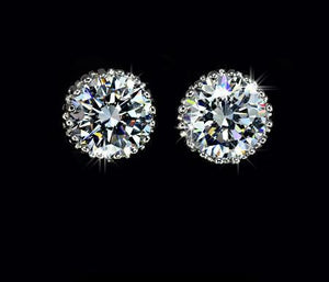 Beautiful Pair of Cubic Zirconia  Prong Stud Earrings - AtHomeWithZane