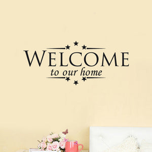 Welcome to Our Home Wall Decal - AtHomeWithZane
