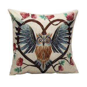 Mosaic Owl Pillowcase Slipcover - AtHomeWithZane