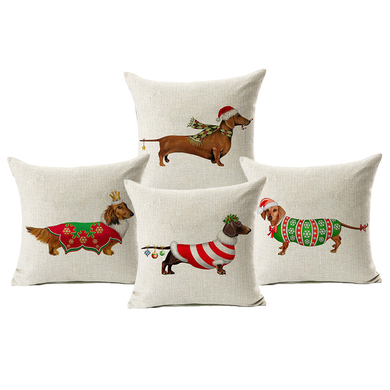 "Charming ""Holiday"" Dog Pillowcase Several to Choose From - AtHomeWithZane"
